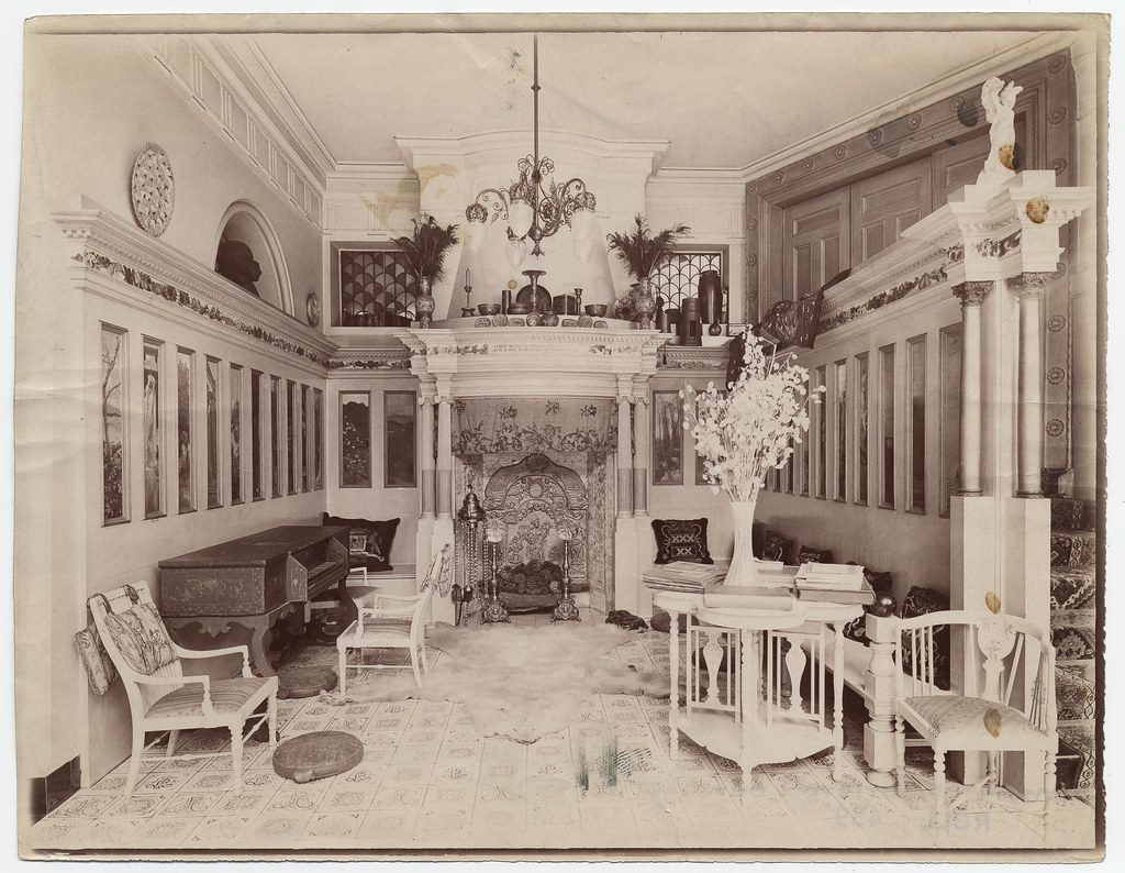 Interior of house of lawrence alma tadema description for House music london