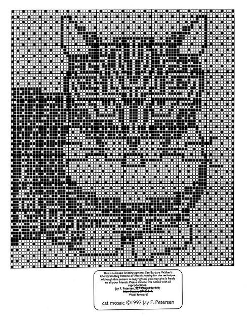 Cat Mosaic Knitting Pattern Flickr Photo Sharing