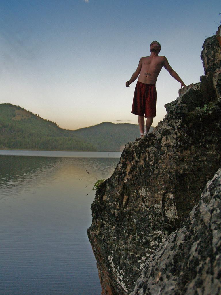 Cliff Diving Tally Lake Montana 2008 9