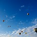 skyscape with balloons
