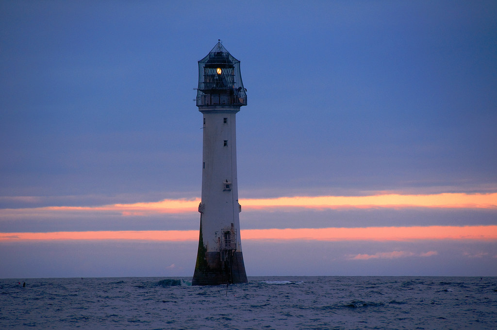 The Bell Rock Lighthouse at dusk | Taken during a boat trip … | Flickr