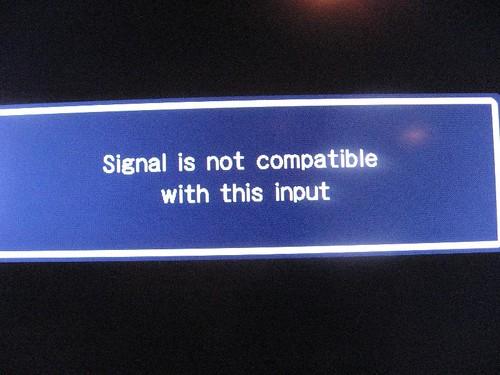 Signal inkompatibel