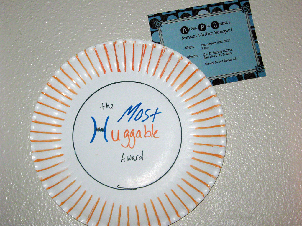 Paper Plate Award The Paper Plate Award I Received At
