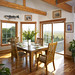 39280 Dining Room with a view in Cape Cod style Lindal home.