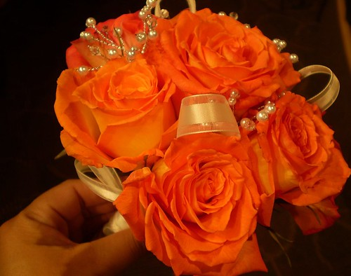 burnt orange silk wedding flowers