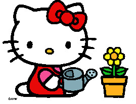 Hello kitty gardening ii catastic4 flickr - Hello this is my new picture garden interior ...