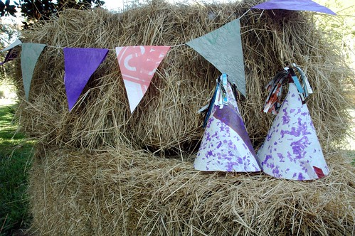 fused plastic bunting and hats | by Chica Schmica
