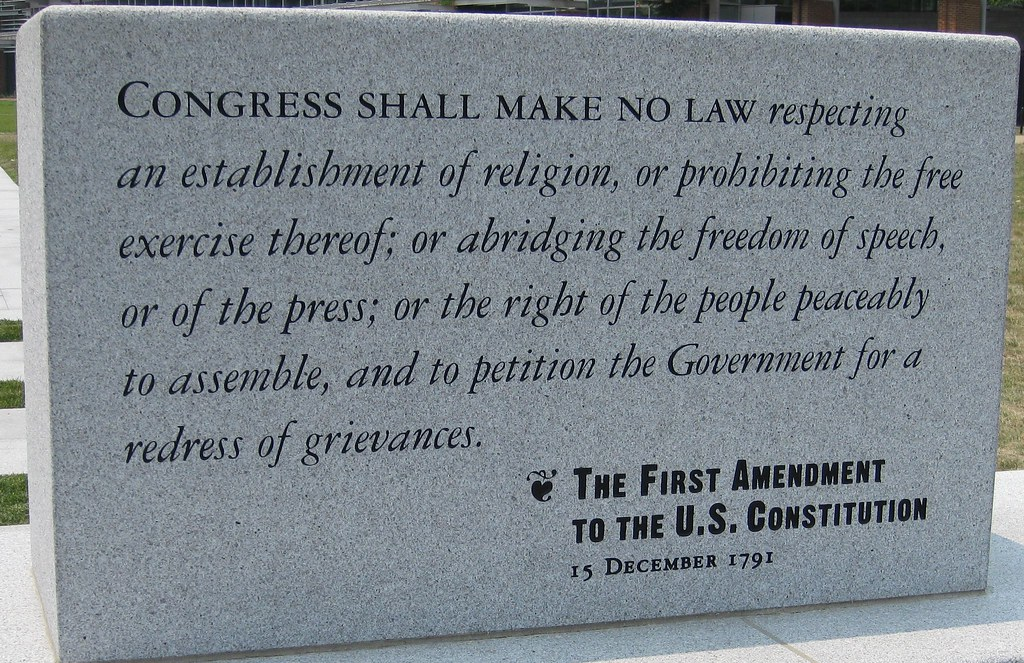 an analysis of first amendment in america The first amendment to the us constitution says that everyone in the united  states has the right to practice his or her own religion, or no religion at all.