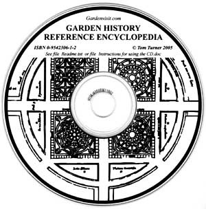 Garden history reference encyclopedia cd the cover for Garden design history