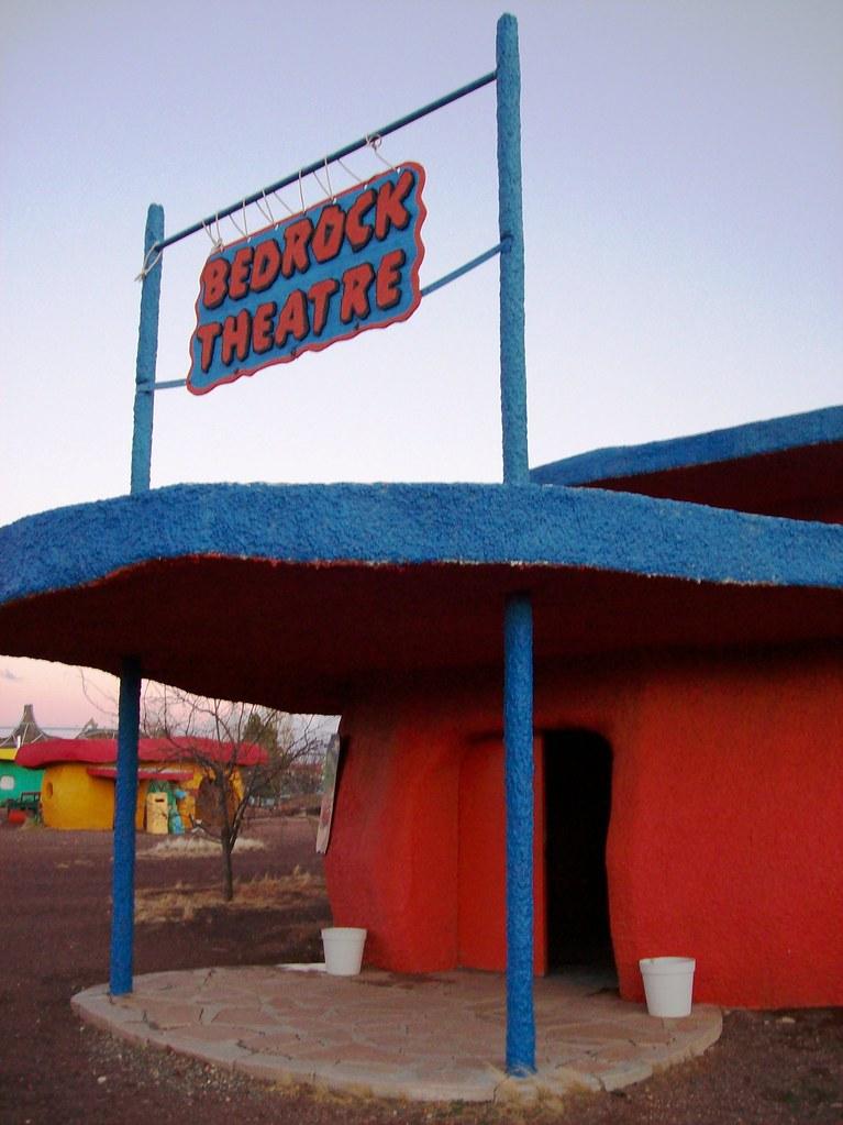 Bedrock Theatre Where They Show Flintstones Cartoons All