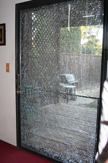 Day 224365 Shattered Sliding Glass Door The Weirdest Pop Flickr