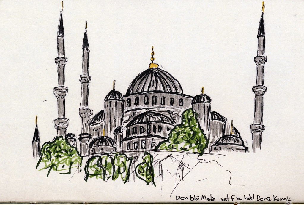 The Blue Mosque | My first drawing in my travel-journal ...