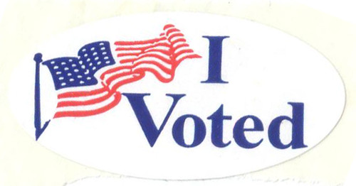 I Voted Sticker (Hi-Res) | by miscellaneaarts
