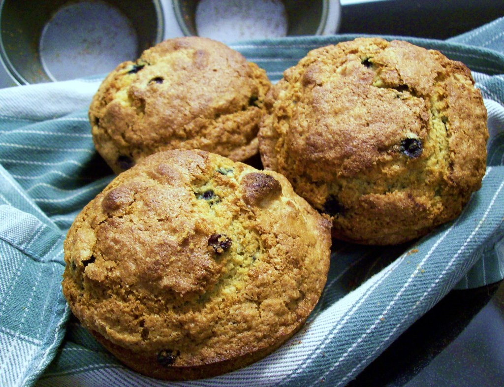 Big Blueberry Muffins | Adapted slightly from Alton Brown ...