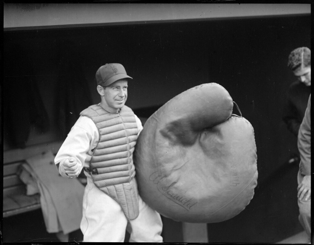 Red Sox Al Schract Baseball Clown With Huge Catcher Mit