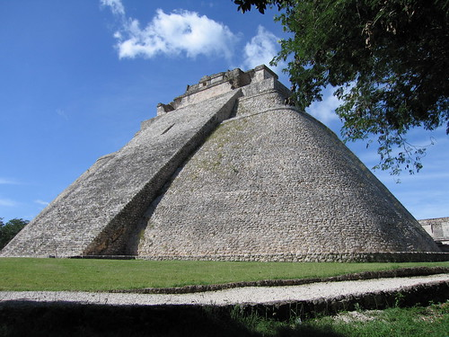 Maya great pyramid uxmal yucatan mexico this one is qui