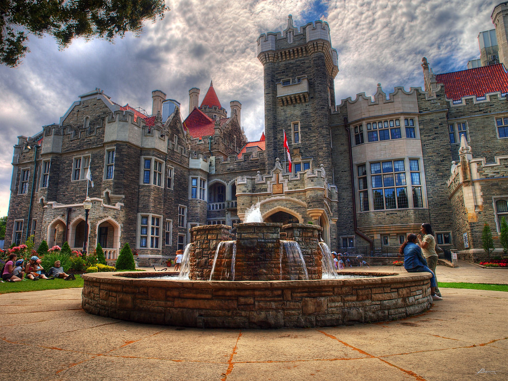 Casa loma toronto 5 exp hdr paul bica flickr for Casa loma mansion toronto