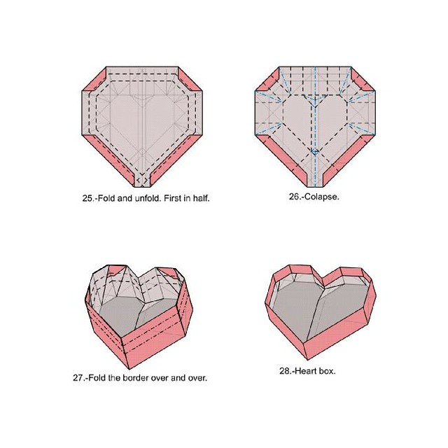 Heart Box Diagram 7 Last Version On Pdf Available Flickr Rh Com Origami Template Rectangle With Lid