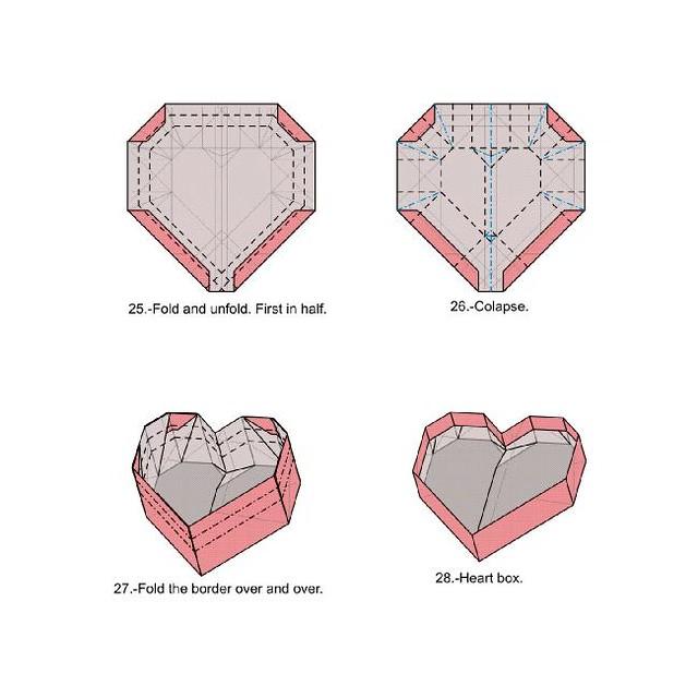 Origami Secret Heart Folding Instructions | 640x640