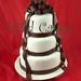 chocolate ribbons wedding cake