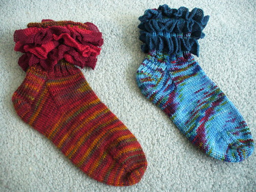 Ruffle socks | by PattyKnits