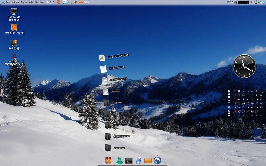 Awn Dock Archlinx Screenshot Awn Dock Google Gadgets Vincent