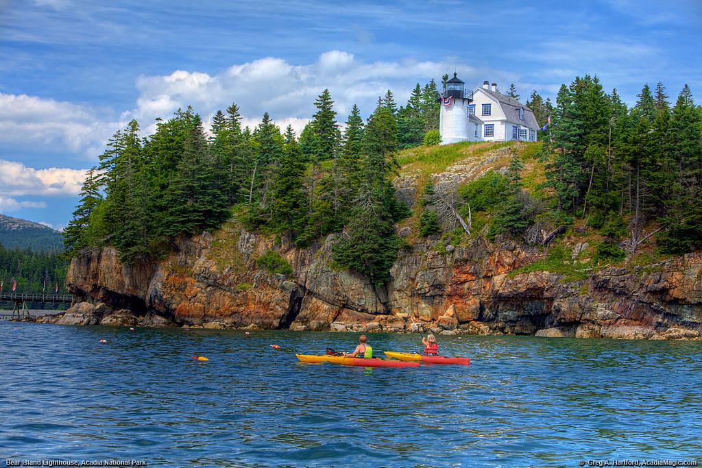 acadia national park bear island lighthouse kayaking. Black Bedroom Furniture Sets. Home Design Ideas