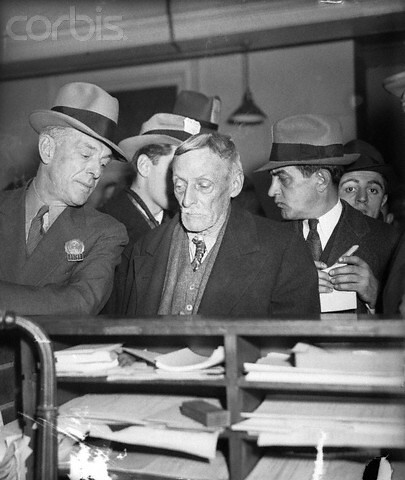 Child killer and cannibal Albert Fish is led into homicide court by ...