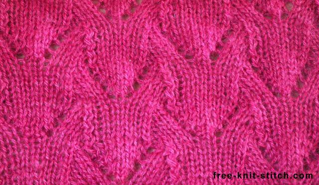Free Knitting Stitch Gallery : Lace stitch www.free-knit-stitch.com/knit-stitch1-20/11.la? Flickr