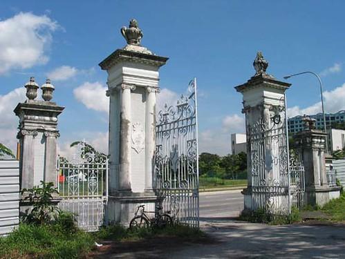 Bidadari Cemetery Gates Close Up Close Up Of The Main