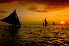of sailboats & sunsets | by MalNino