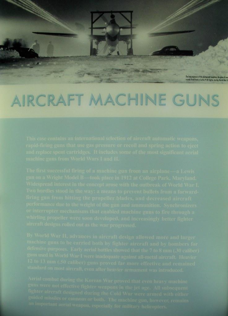 Aircraft machine guns