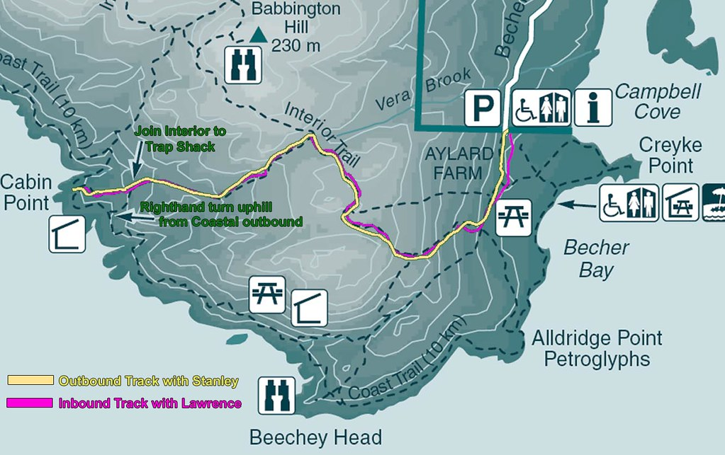 East Sooke Park Map Aylard Cabin Pike View Small On
