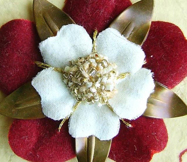 Tudor Rose Brooch Another Copper And Velvet Tudor Rose