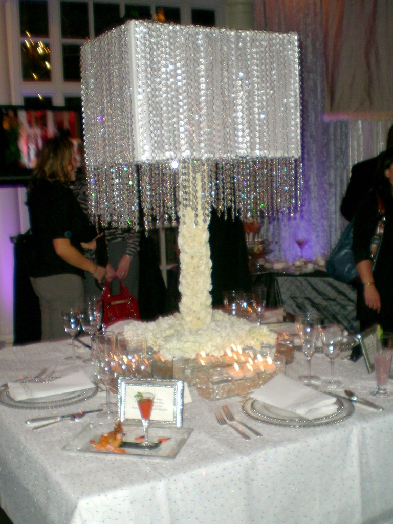 Wedding lampshade centerpiece a for