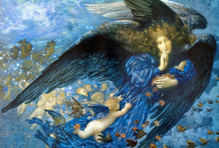 "Edward Robert Hughes (1851-1914), ""Night with Her Train of Stars"" 