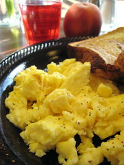 Scrambled Eggs & fruit | by Annie Mole