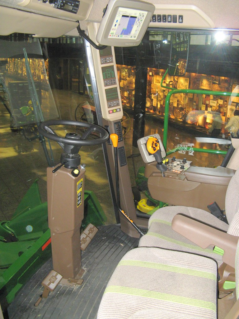 Inside Of A Combine : Inside the cab of corn combine this is what they