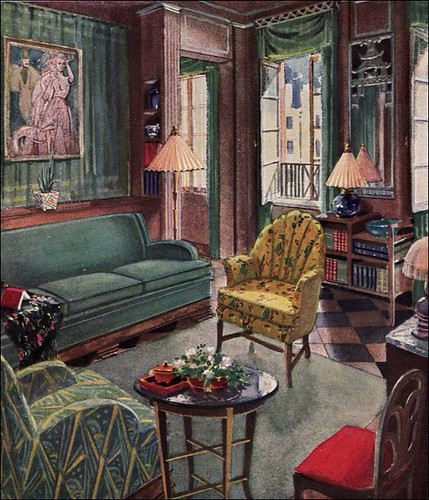 1929 modern living room by karpen flickr photo sharing for Art deco interior doors home
