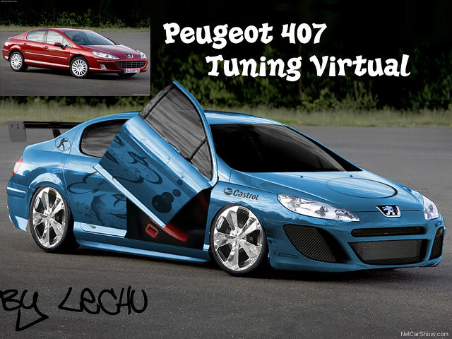 peugeot 407 tuning virtual mariano quinteros flickr. Black Bedroom Furniture Sets. Home Design Ideas