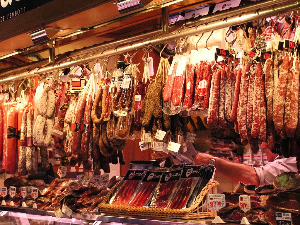 Barcelona mercado de la boqueria una imajen de una - Mercados de segunda mano barcelona ...