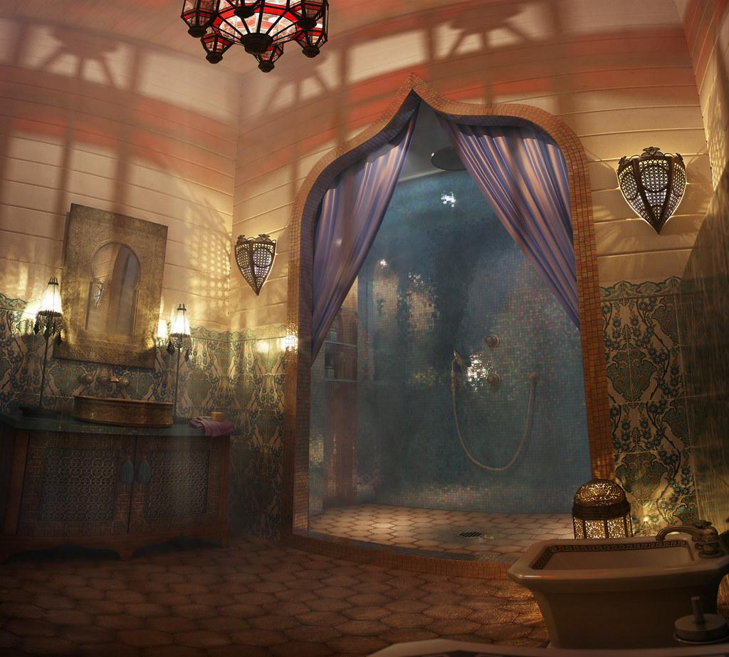 Moroccan bathroom version 2 for attika design rusty flickr - Moroccon bathroom ...