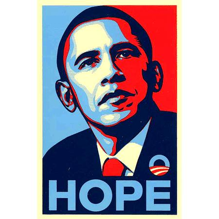 Obama Hope Sticker | by teamstickergiant