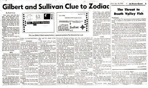 Paul Avery's Thoughts on the Zodiac Killer (October 12, 1970) | by Nicole Gillam