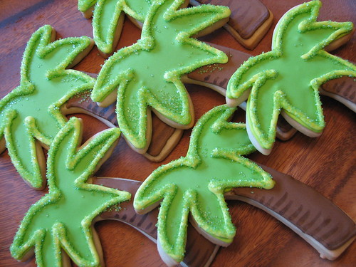 Sugared Palm Tree Cookies | by Whipped Bakeshop