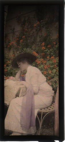 Woman reading in garden | by George Eastman House