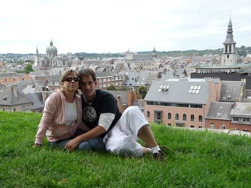 Con mi madre en Namur (Bélgica)