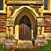 Door on St. Anne's Church Alderney