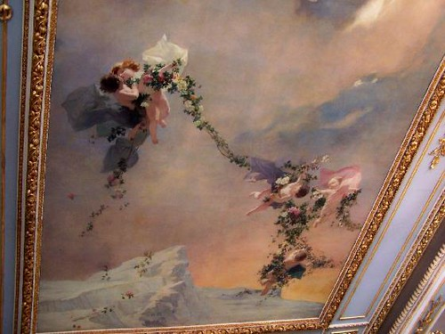 ceiling mural in the smoking room national theater san