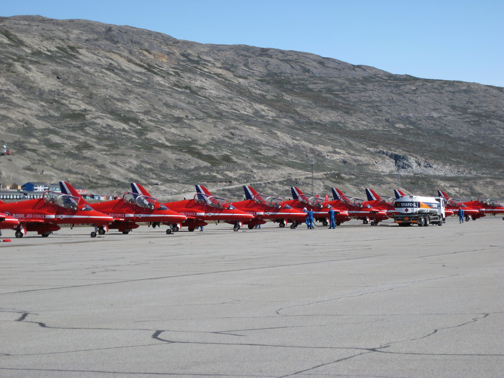 Quot The Red Arrows Quot At Kangerlussuaq Airport Greenland Flickr